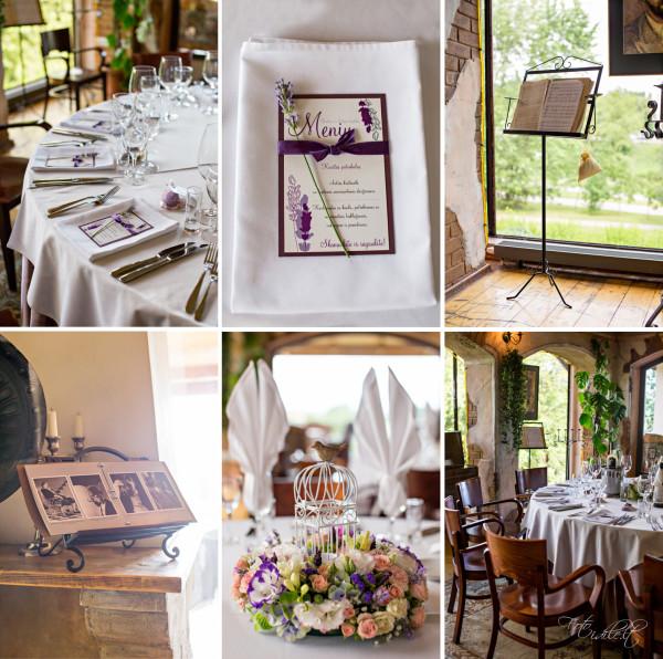 Vestuvių detalės - levandų tema