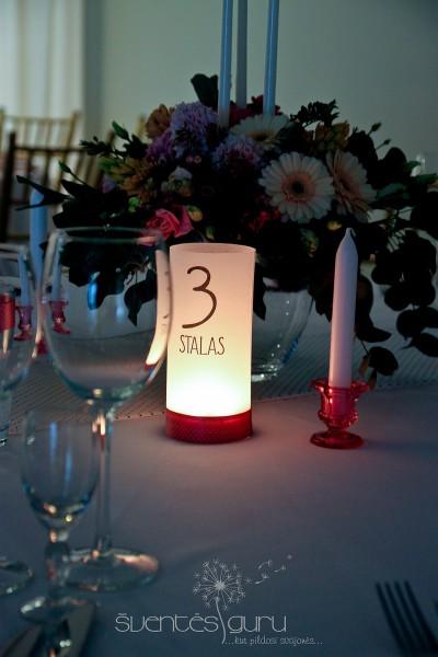 Vestuvių dekoro detalė