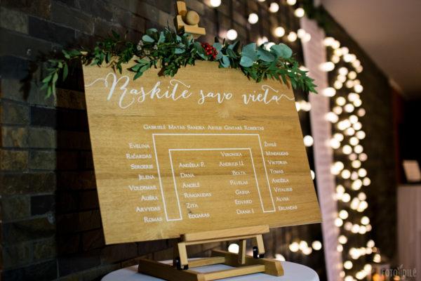 Bohemiškos vestuvės - susodinimo planas